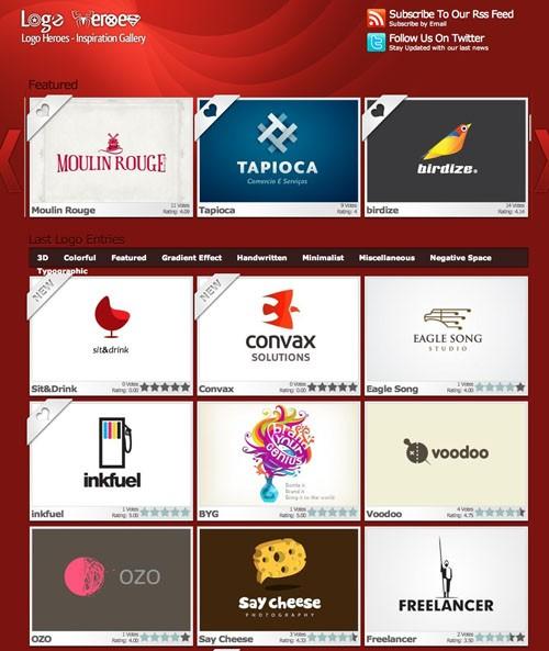 Logo Design Gallery Logo Heroes 20100921 23 Páginas web para inspirarnos con logos