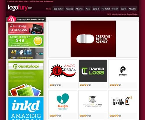 Logo Ideas Gallery LogoFury.com 20100921 23 Páginas web para inspirarnos con logos