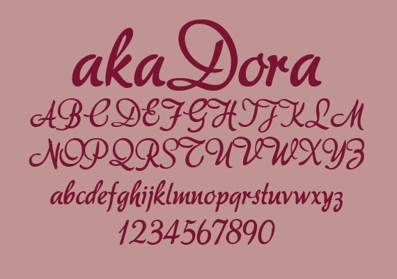 akaDora-new-fresh-fonts