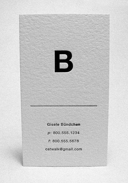 Creative Minimal Business Card Design Inspiration B Cards