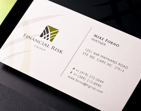 Creative Minimal Business Card Design Inspiration Finance Cards