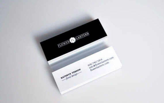 flower-lantern-minimal-business-cards