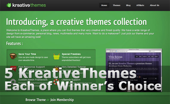 Kreative-themes-giveaway-deal