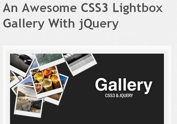 hovering gallery 20+ Efectos de jQuery brillantes