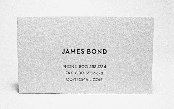 Creative Minimal Business Card Design Inspiration James Cards