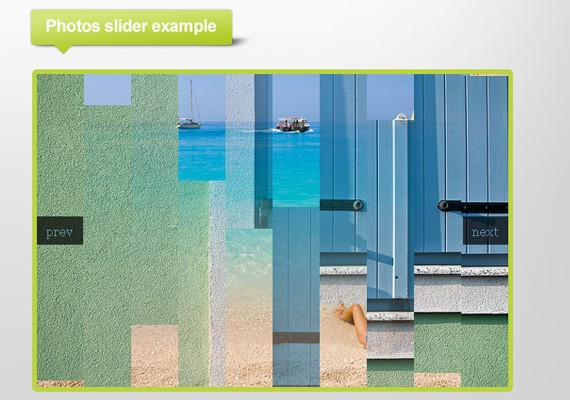 jqfancytransitions 20+ Efectos de jQuery brillantes