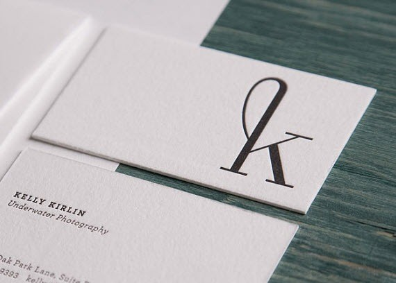 Creative Minimal Business Card Design Inspiration Kelly Cards