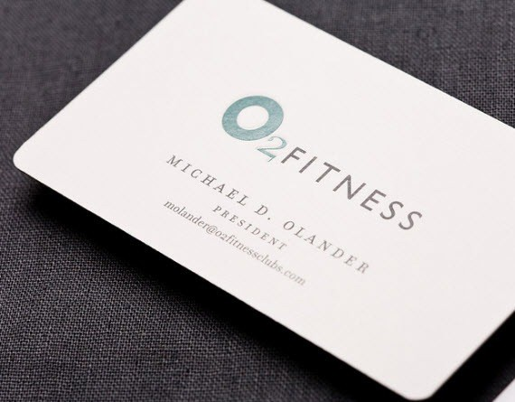 creative minimal business card design inspiration o2fitness minimal business cards - Business Card Design Inspiration