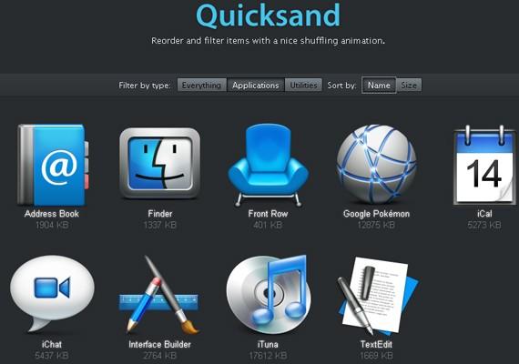 quicksand 20+ Efectos de jQuery brillantes