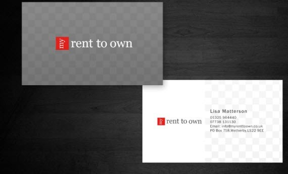 creative minimal business card design inspiration rent-minimal-business-cards