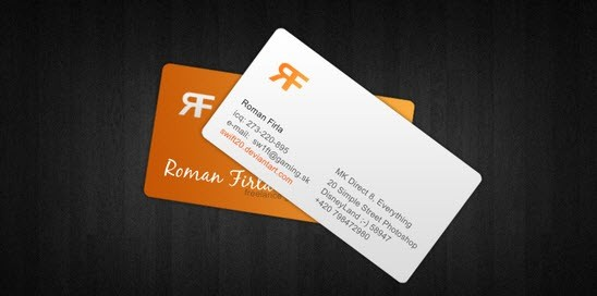 creative minimal business card design inspiration roman-feria-minimal-business-card