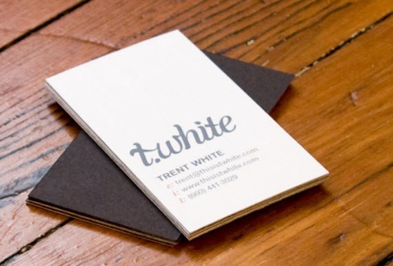 creative minimal business card design inspiration t-white-minimal-business-cards