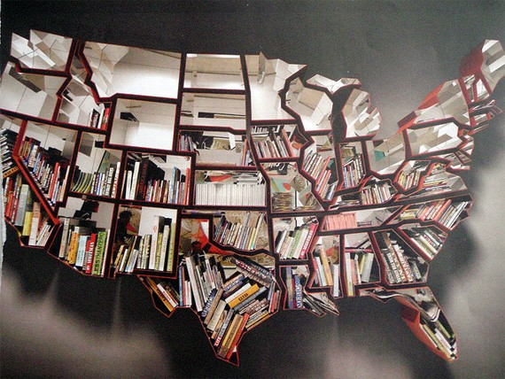 A bookshelf designed by Ron Arad