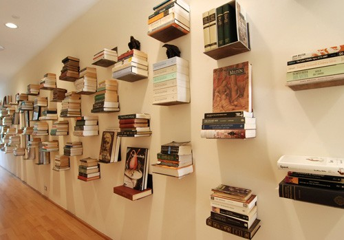 Books on the wall