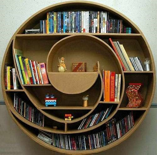 unusual and desirable bookshelves designs circle 35 Estanterías con un diseño atractivo