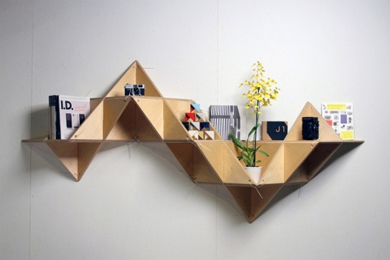 unusual and desirable bookshelves designs tshelf 35 Estanterías con un diseño atractivo