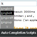 20+ Auto Completion Scripts