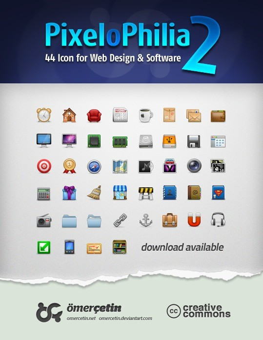 44 Icon for Web-Design & Software