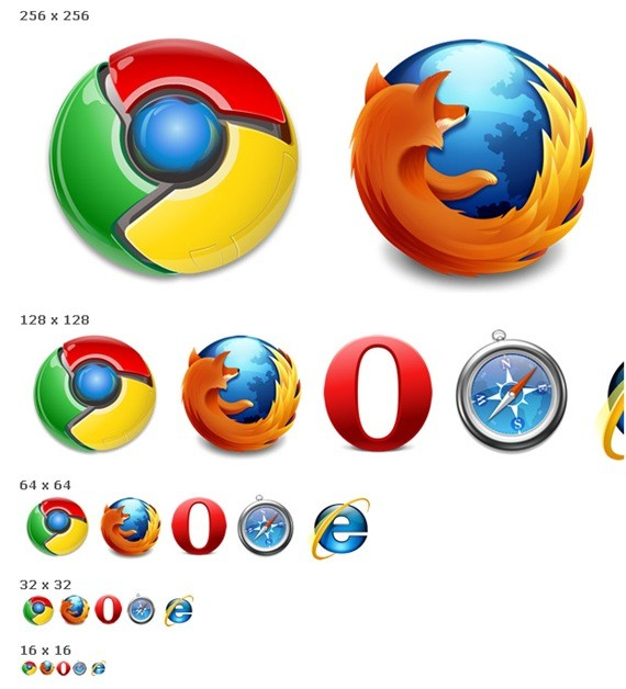 High-res browser logos`