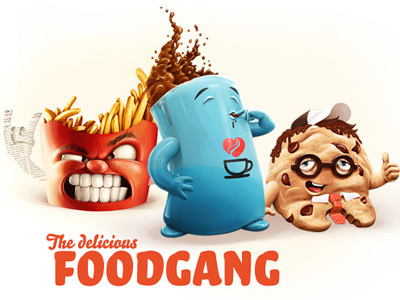 Foodgang-incredible-artworks-dribbble-make-wow