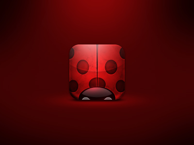 Ladybug-iphone-iconl-incredible-artworks-dribbble-make-wow