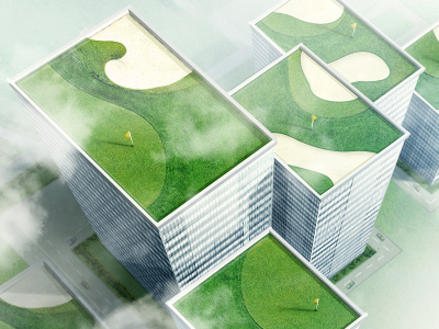 Skyscrapers-golf-incredible-artworks-dribbble-make-wow
