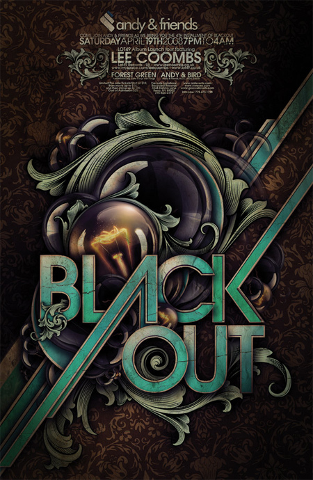 Blackout-poster-modern-design-trends-free-brushes