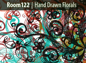 Hand-drawn-florals-modern-design-trends-free-brushes