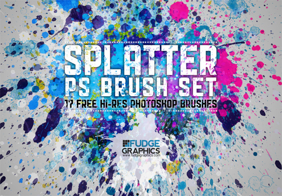 Hi-res-splatter-brush-set-modern-design-trends-free-brushes