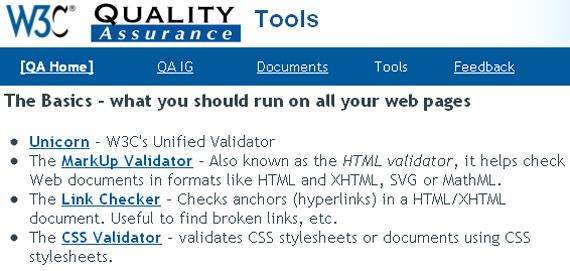 W3c_validator_tools_QA