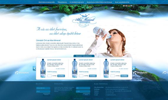 Albamineral_weboldal_terv_by_victorydesign-d31wp66