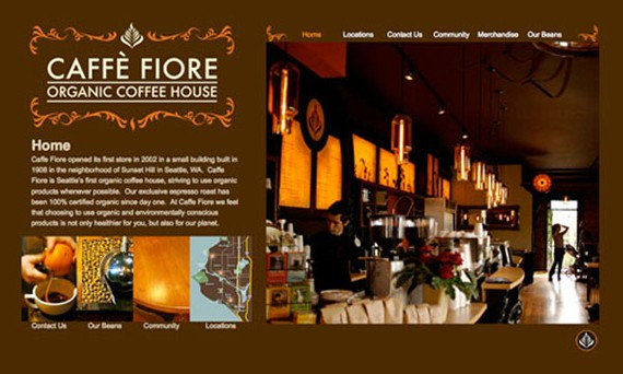 cafe fiore coffee website 30 Sitios web sobre café para inspirarte