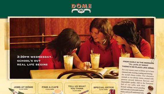 dome cafe coffee website 30 Sitios web sobre café para inspirarte