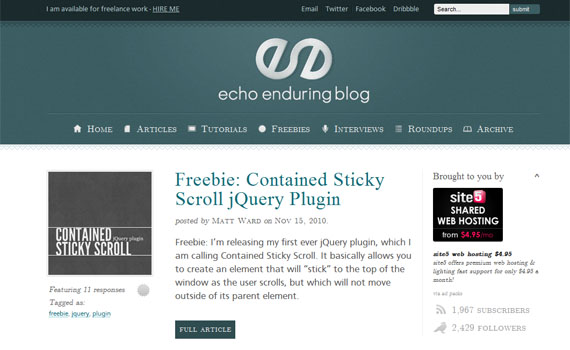 Echoenduringblog