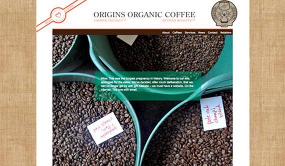 origins organic coffee website 30 Sitios web sobre café para inspirarte