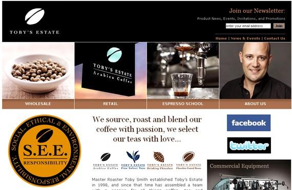 tobys estate coffee website 30 Sitios web sobre café para inspirarte