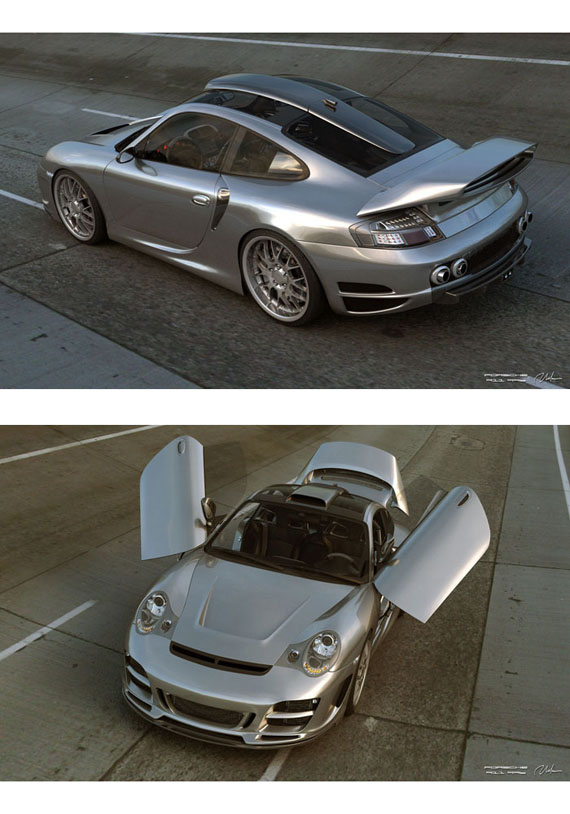Porsche 911 996 Top Art Chrome Look