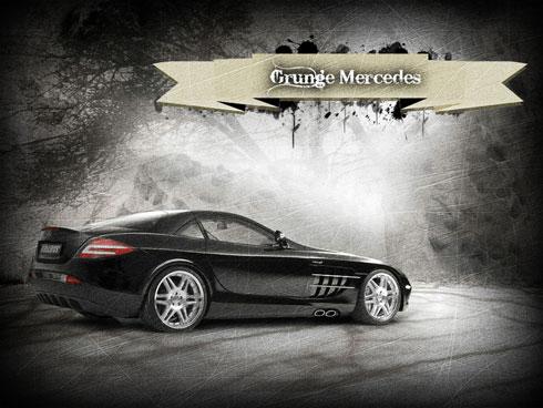 Grunge mercedes
