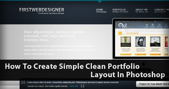 1stDelicious: Create A Simple Clean Portfolio Layout In Photoshop