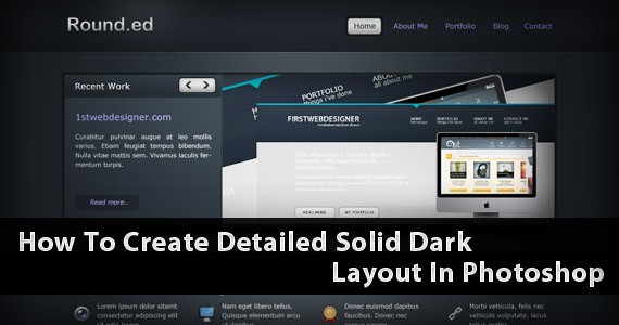 Rounded: Create A Detailed Solid Dark Layout In Photoshop