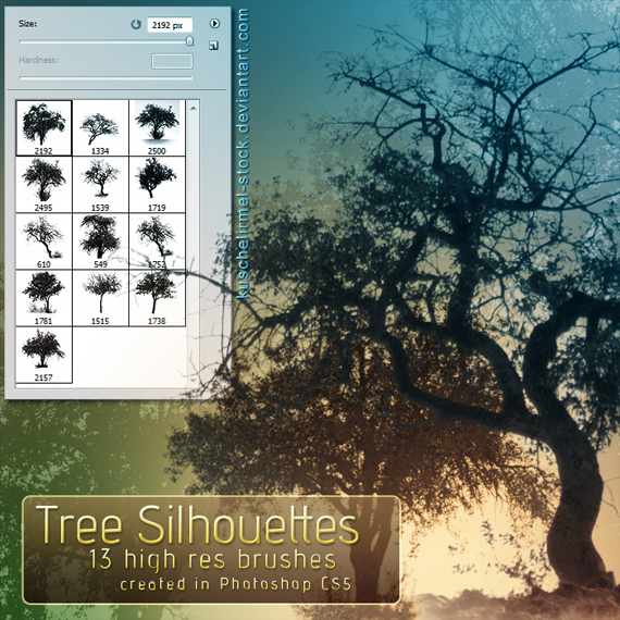 Tree_silhouette_brushes_by_kuschelirmel_stock-d317dqj