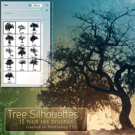 Tree_silhouette_brushes_by_kuschelirmel_stock-d317dqj
