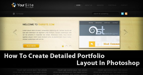 Learn How To Create A Detailed Portfolio Layout In Photoshop