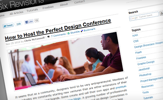 Six-revisions-conference-best-posts-2010-what-makes-great