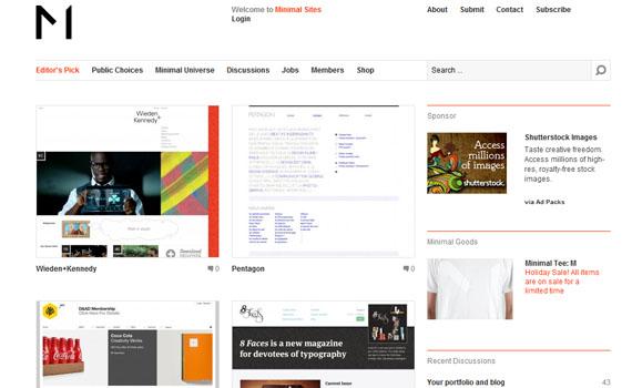 Minimal sites