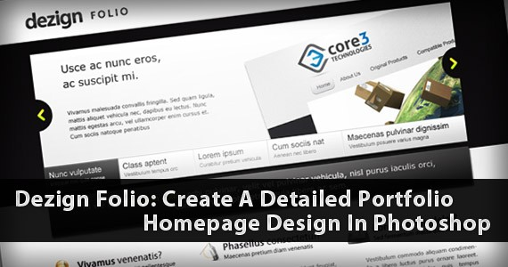 Dezign Folio: Create A Detailed Portfolio Homepage Design In Photoshop