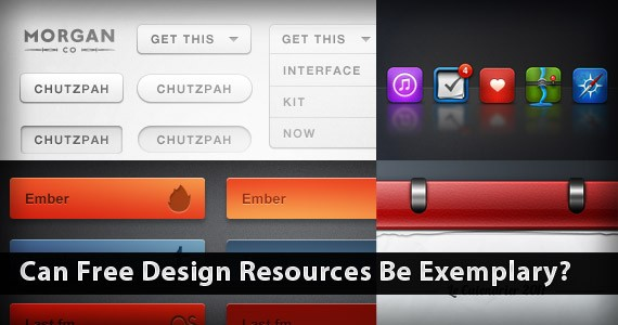 Can Free Design Resources Be Exemplary?