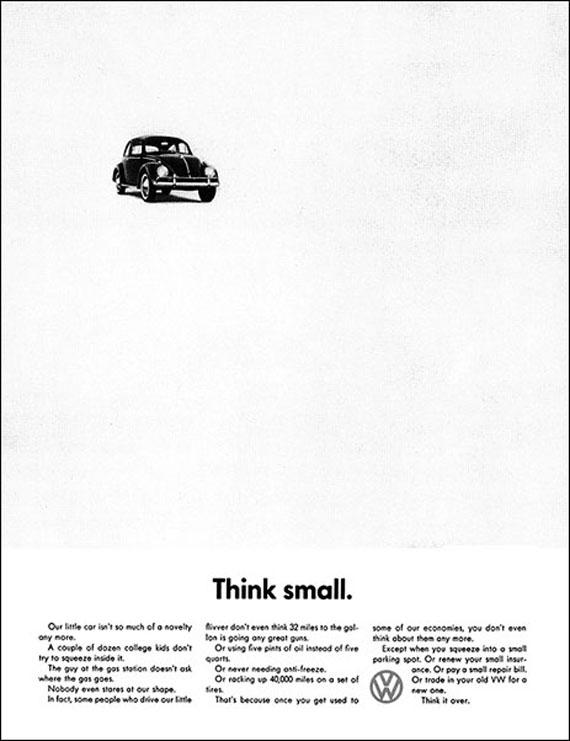 Think Small Beetle Minimalist Ad