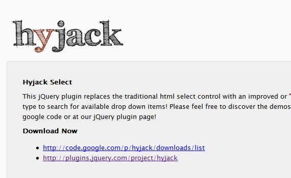 Hyjack-jquery-navigation-menu-plugins