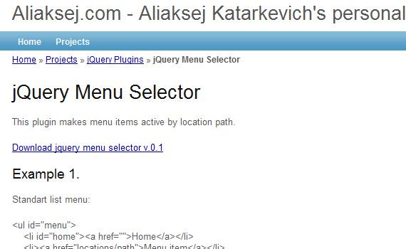 Menu-selector-jquery-navigation-menu-plugins